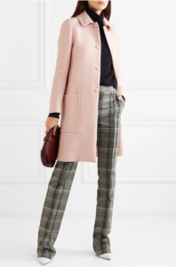 Wool-blend drill coat from BOTTEGA VENETA
