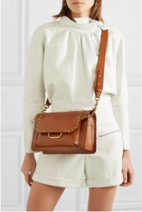 Maskhia studded leather shoulder bag by ISABEL MARANT