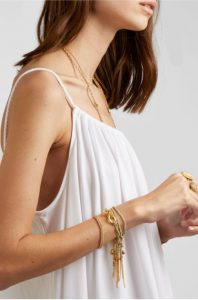 Strength Lucky 18-karat gold, sapphire and silk bracelet by CAROLINA BUCCI