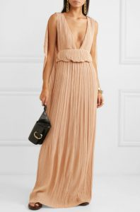 Plissé-georgette maxi dress by CHLOÉ
