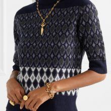 Intarsia merino wool-blend turtleneck sweater from CHLOÉ