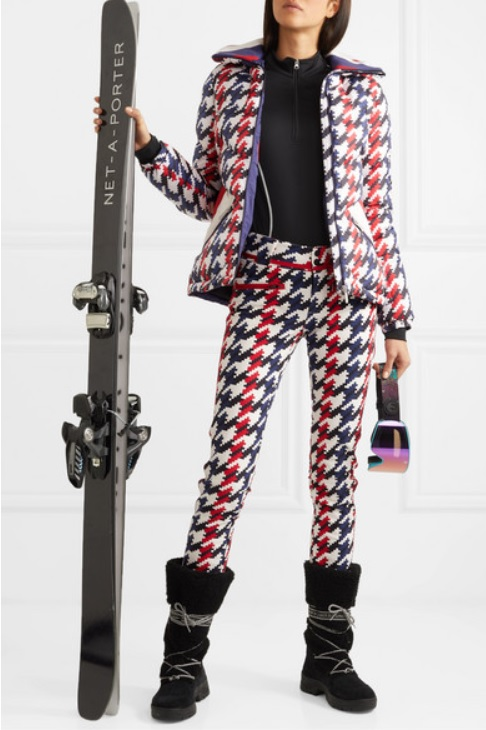 Aurora II houndstooth slim-leg ski pants from PERFECT MOMENT