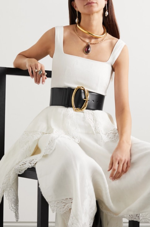 Leather waist belt by ALEXANDER MCQUEEN