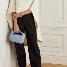 Wool and silk-blend twill wide-leg pants by LANVIN