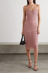 Ruched tulle midi dress byDOLCE & GABBANA